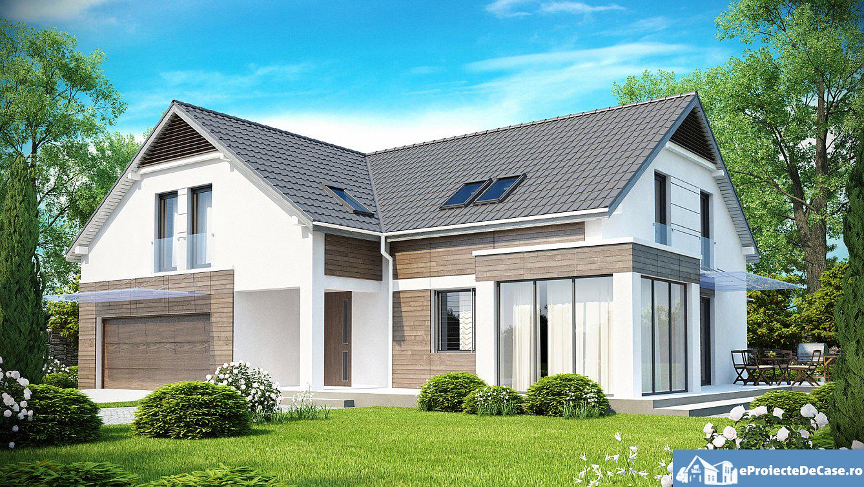 Proiect de casa cu mansarda129