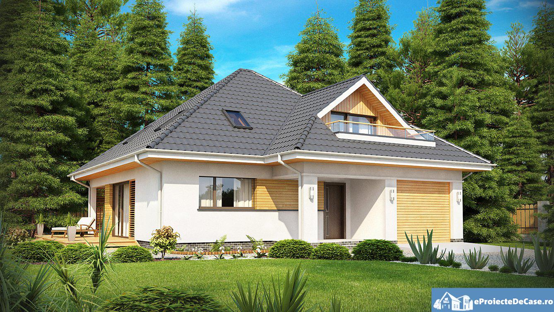 Proiect de casa cu mansarda 152