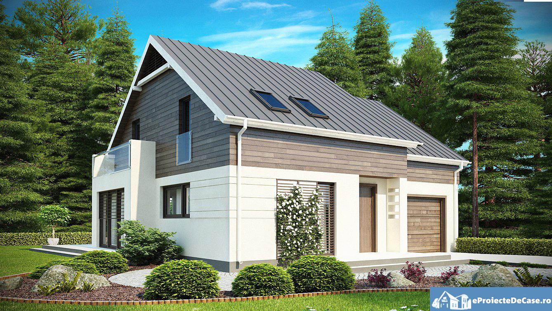 Proiect de casa cu mansarda 182