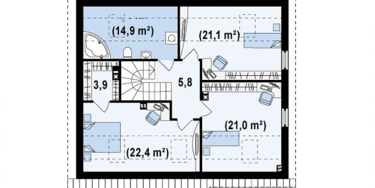 Proiect-casa-cu-Mansarda-si-Garaj-148011-mansarda1