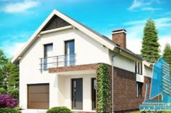 Proiect de casa cu mansarda http://www.proiectari.md/property/proiect-179/