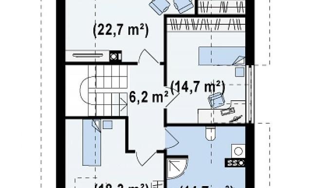 proiect-casa-cu-mansarda-si-garaj-154011-mansarda