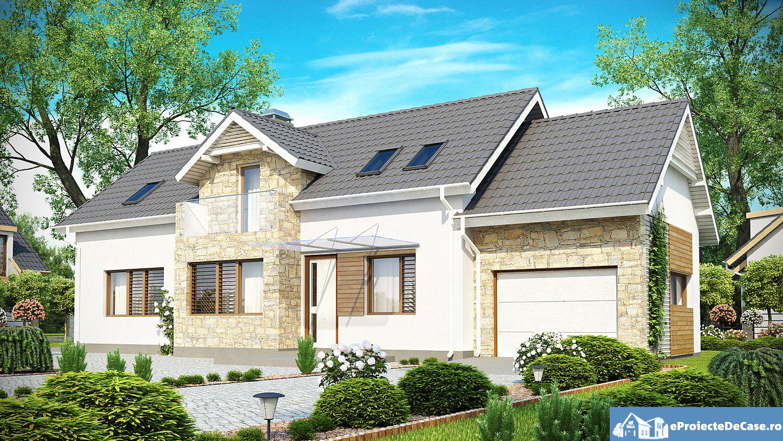Proiect de casa cu mansarda 150