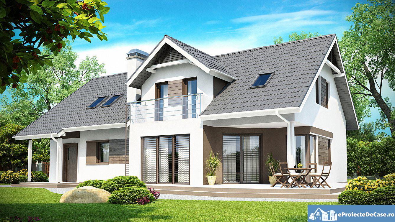 Proiect de casa cu mansarda 127