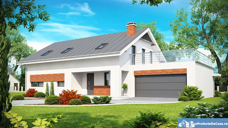 Proiect de casa cu mansarda 126