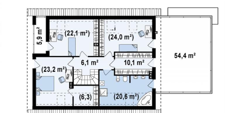 Proiect-casa-cu-Mansarda-si-Garaj-161011-mansarda