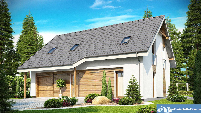 Proiect de casa cu mansarda 148
