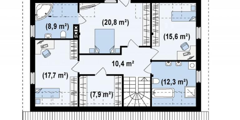 Proiect-casa-cu-Mansarda-si-Garaj-170011-mansarda1