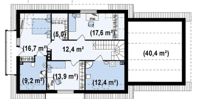 Proiect-casa-cu-Mansarda-si-Garaj-175011-mansarda