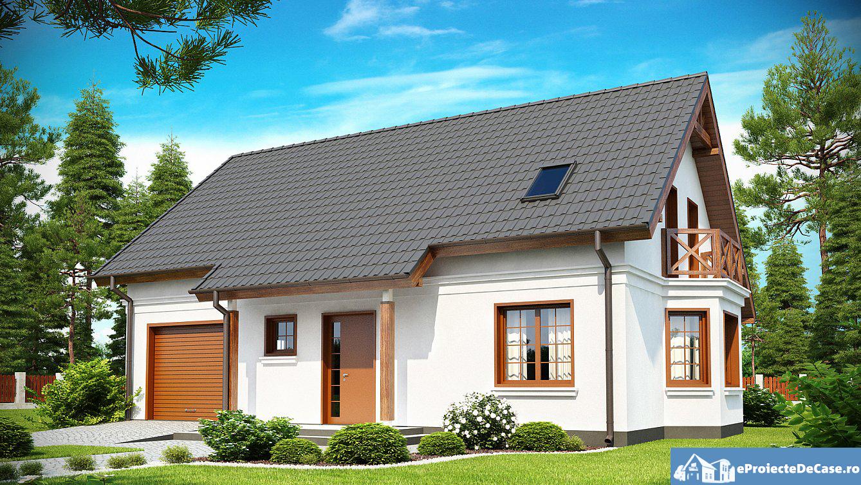 Proiect de casa cu mansarda 172