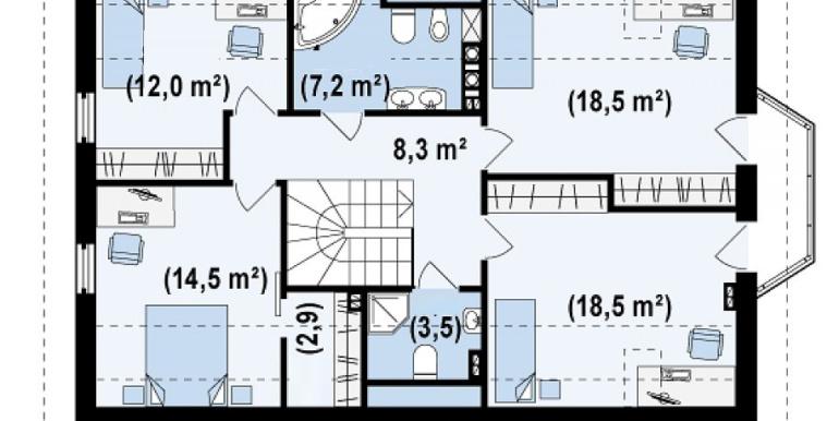 Proiect-casa-cu-Mansarda-si-Garaj-178011-mansarda