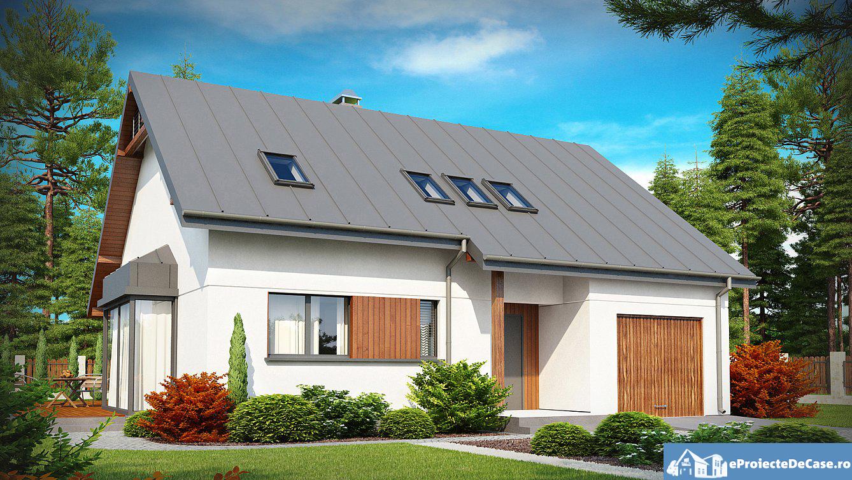 Proiect de casa cu mansarda 170