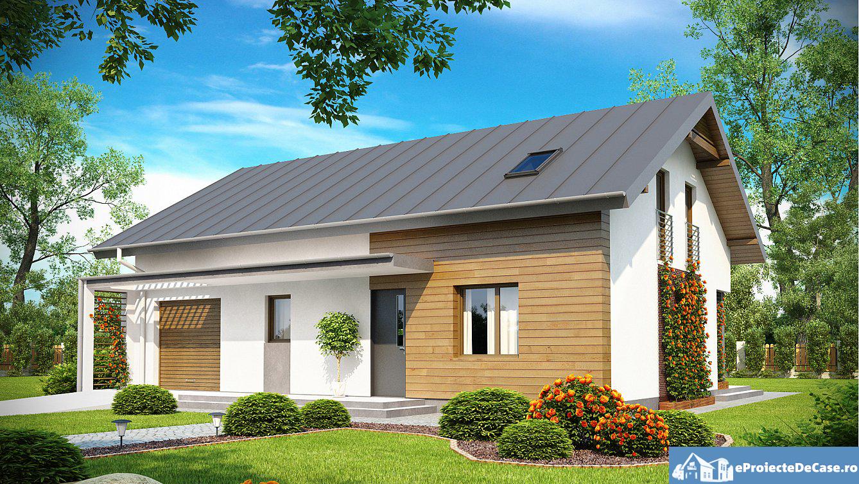 Proiect de casa cu mansarda 169