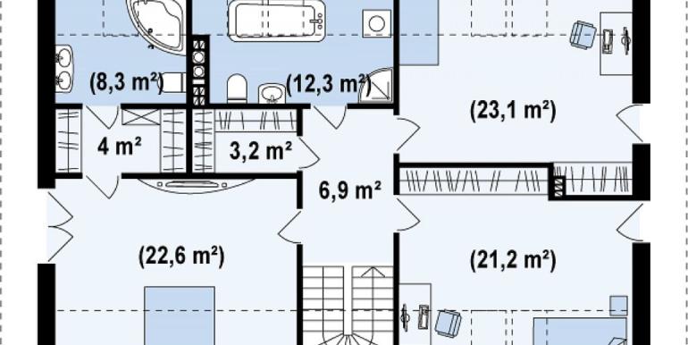 Proiect-casa-cu-Mansarda-si-Garaj-188011-mansarda