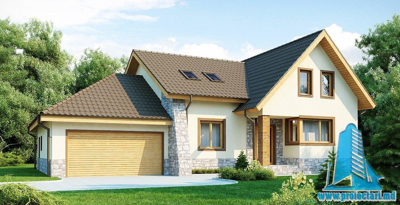 Proiect de casa cu mansarda 141