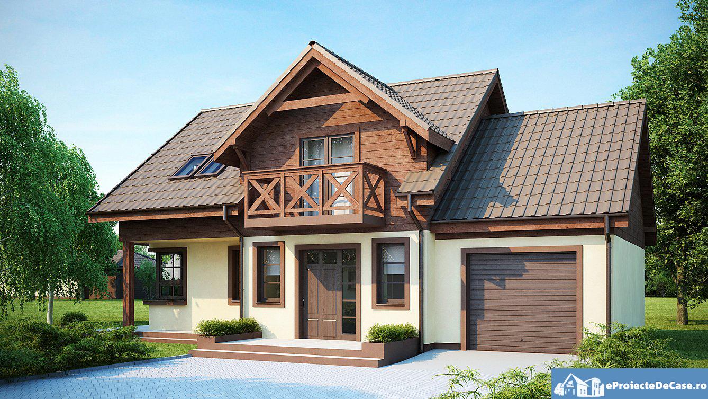 Proiect de casa cu mansarda 236