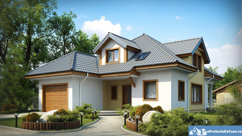 Proiect de casa cu mansarda239