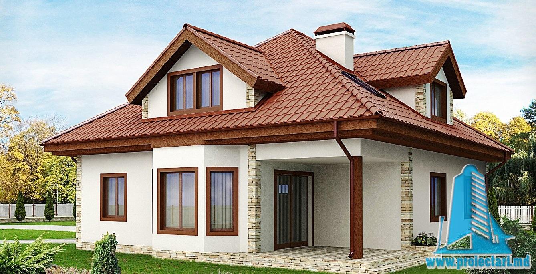 Proiect de casa cu mansarda si garaj 161 proiectari si for Proiecte case cu garaj si mansarda