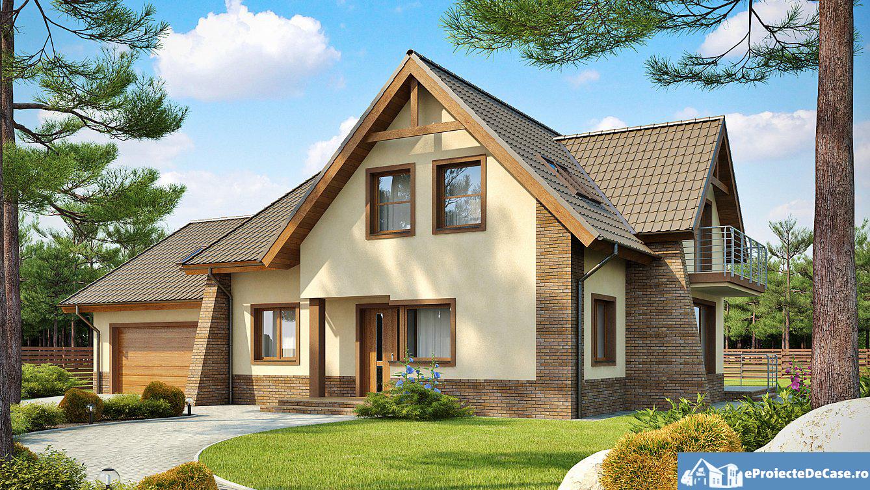 Proiect de casa cu mansarda 137