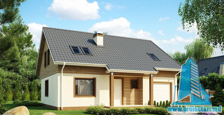 Proiect de casa cu mansarda 206
