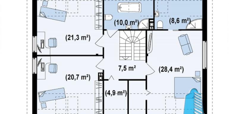 proiect-casa-cu-mansarda-si-garaj-88011-mansarda