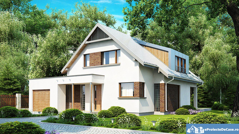 Proiect de casa cu mansarda 166