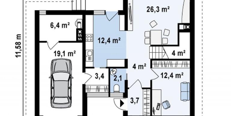 Proiect-casa-cu-Mansarda-si-Garaj-e24011-parter