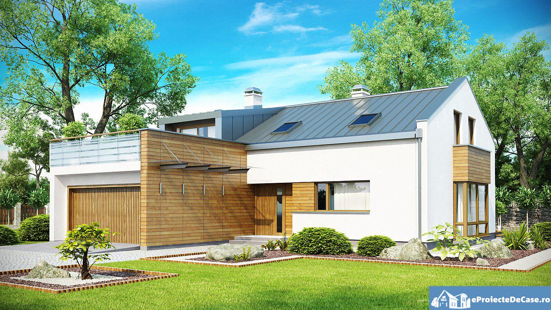 Proiect de casa cu mansarda 123