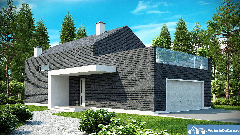 Proiect de casa europeana cu mansarda 146