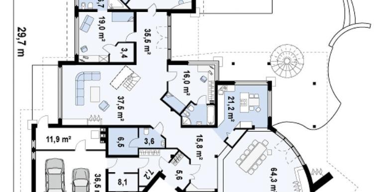 Proiect-casa-cu-Mansarda-si-Garaj-eR1011-parter