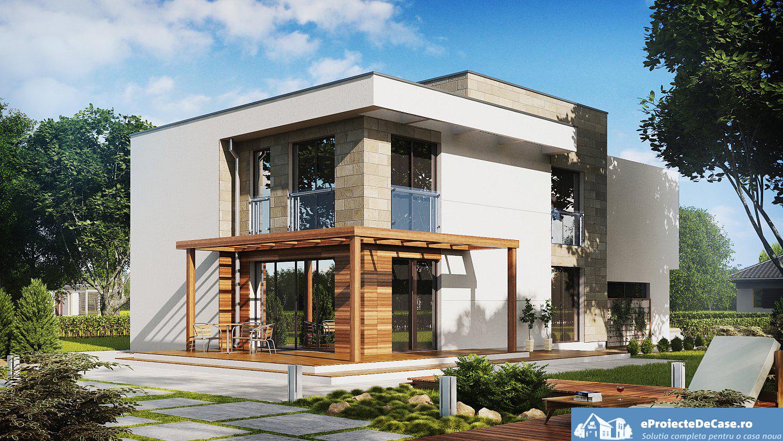 Proiectul de casa cu parte etaje si garaj pentru doua for Casa moderna in moldova