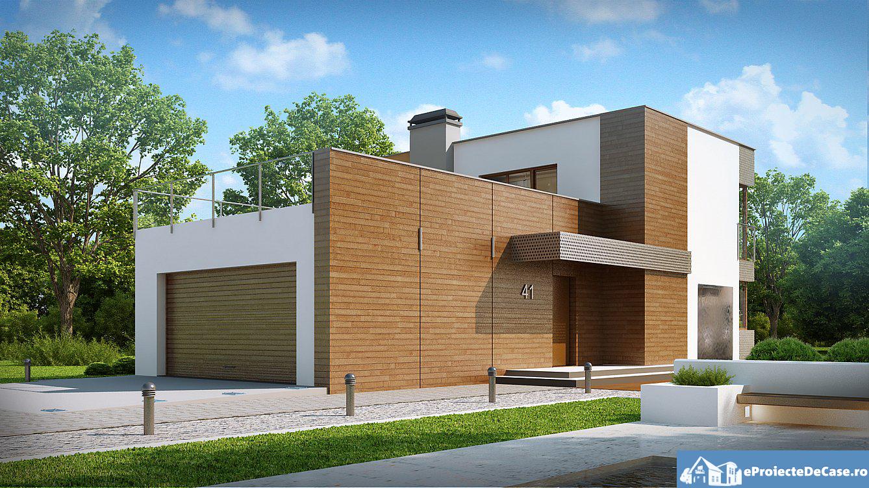 Proiect de casa cu etaj si garaj 19