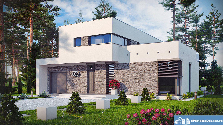 Proiect de casa cu doua etaje si garaj 18