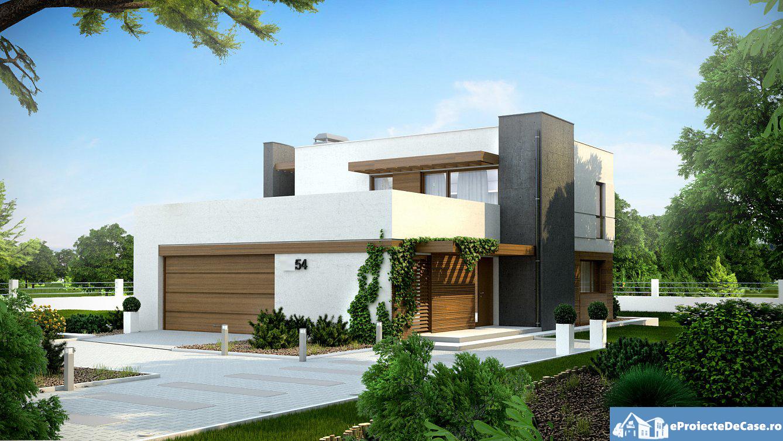 Proiectul de casa cu parter etaj si garaj pentru doua for Casa moderna in moldova