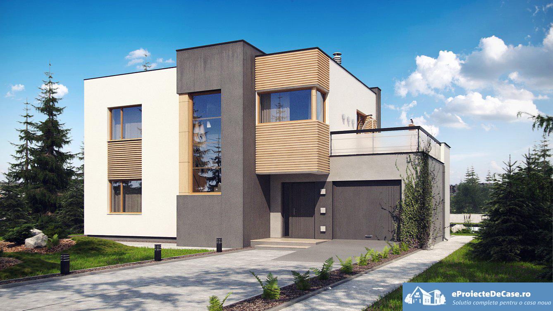 Proiect de casa cu parter, etaj si garaj pentru o masina – 10011