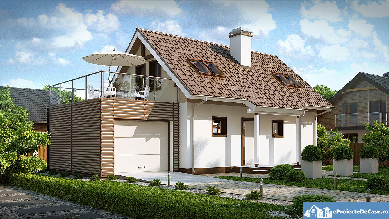 Proiect de casa cu mansarda 102 proiectari si constructii for Proiecte case cu garaj si mansarda