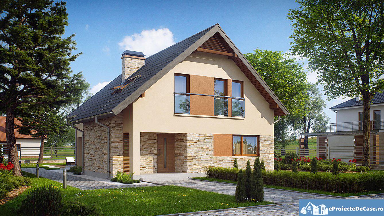 Wonderful ... Proiect Casa Cu Mansarda 134012 1 ...