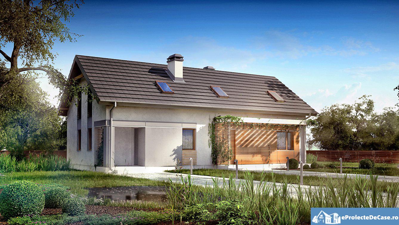 Proiect de casa cu mansarda 71