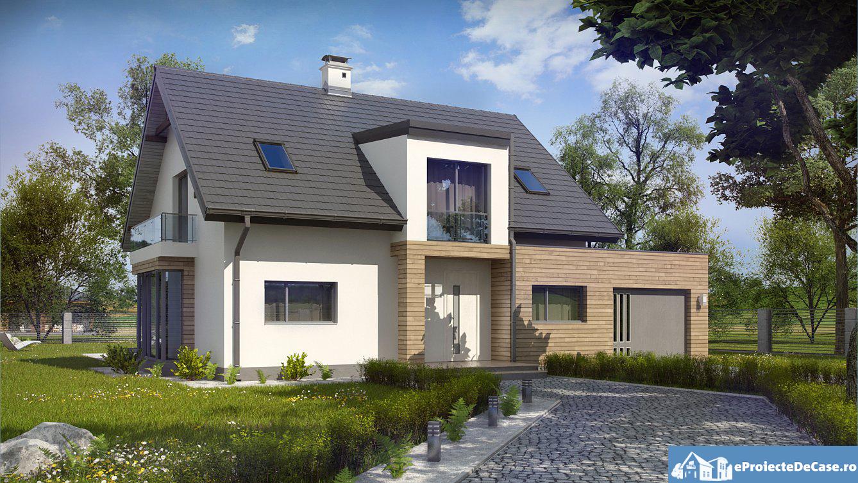 Proiect de casa cu mansarda 88
