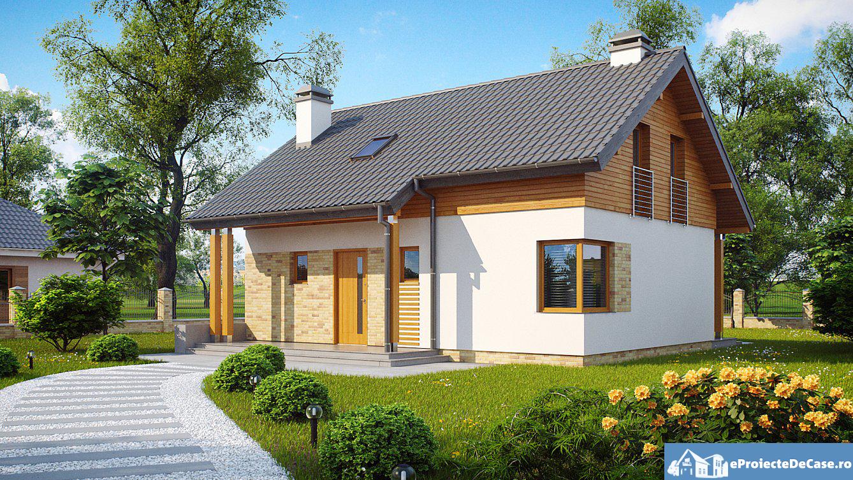 Proiect de casa cu mansarda 70
