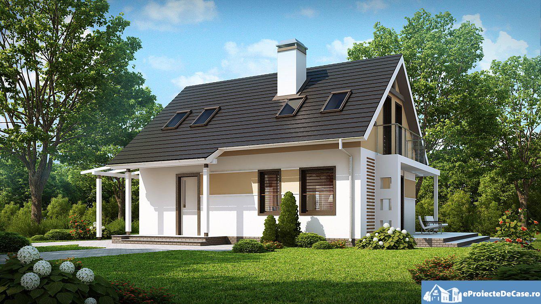 Proiect de casa cu mansarda 105 | | Proiectari si Constructii