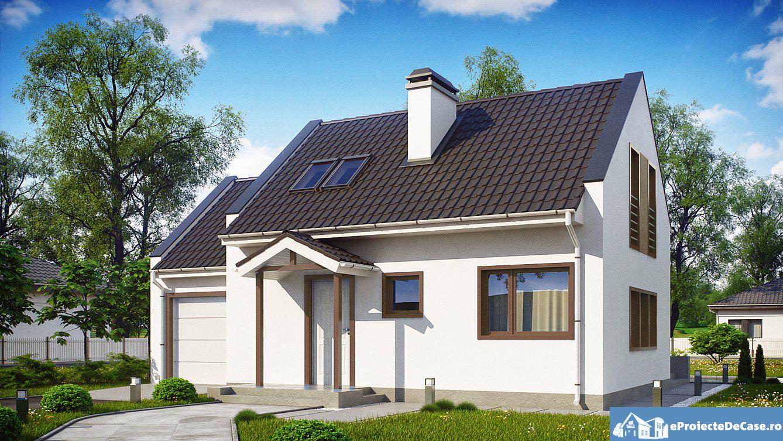 Proiect de casa cu mansarda 104