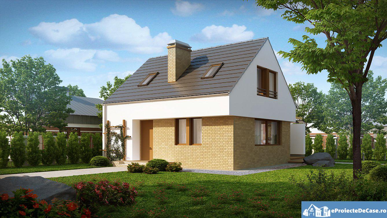 Proiect de casa cu mansarda 101