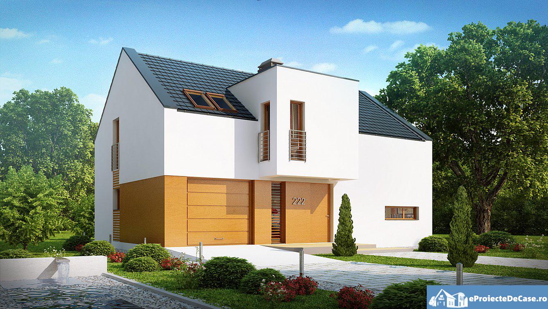 Proiect de casa cu mansarda 100