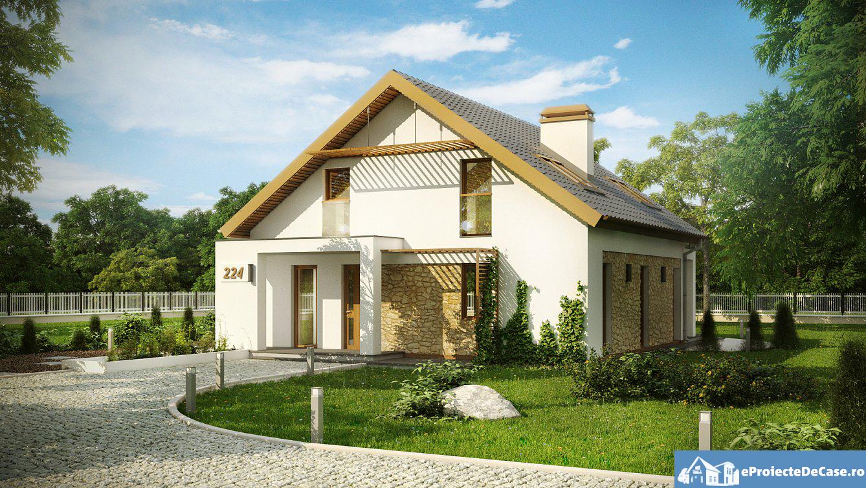 Proiect de casa cu mansarda 99