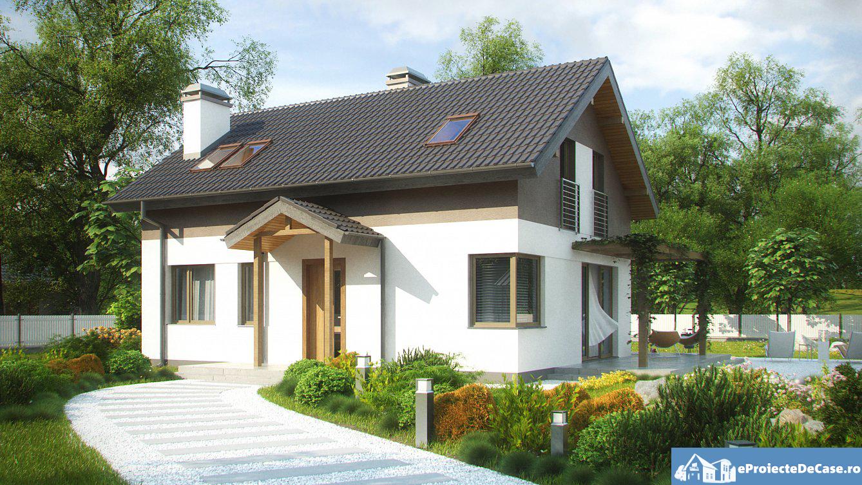 Proiect de casa cu mansarda 68