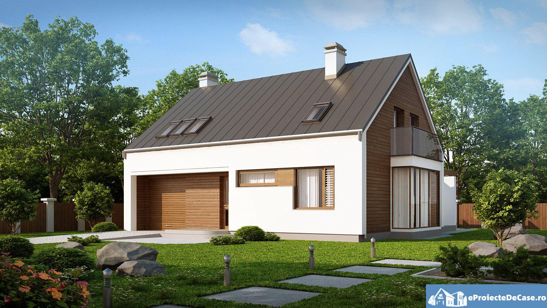 Proiect de casa cu mansarda 93