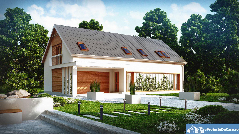 Proiect de casa cu mansarda 92