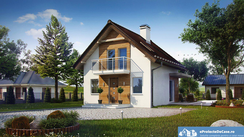 Proiect de casa cu mansarda 66