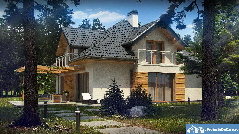 Proiect de casa cu mansarda 64